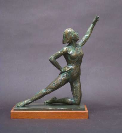 "Dancer on Knee, Bronze, 9"" high"
