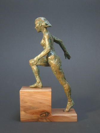 "High Step, Bronze, 14"" high"