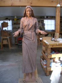 Mary, Clay for bronze, Life-size