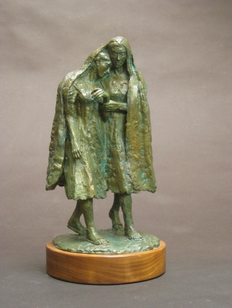 "Compassion, Bronze, 12"" high"