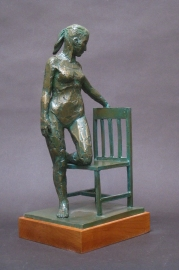 "Resting, Bronze, 12"" high"