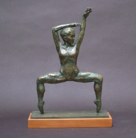 "En Pointe, Bronze, 12"" high"