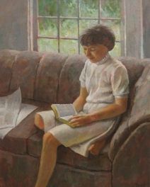 Sunday Reading , 24 x 18, Oil on canvas