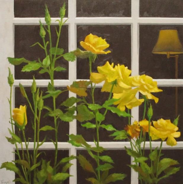 Flowers By the Window, Oil 18 x 18