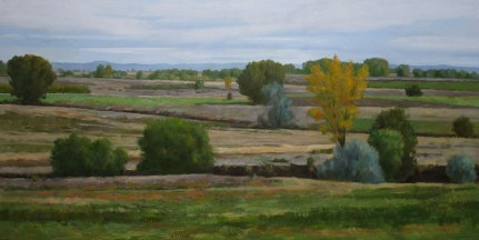October Fields, Oil on canvas, 24 x 48
