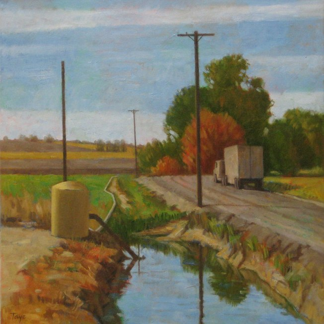 Autumn in Canyon County, Oil on canvas, 18 x 18