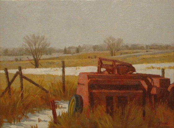 December Morning, Oil on canvas, 11 x 14