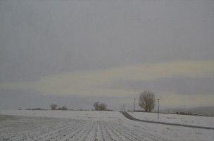The Stillness of Winter, Oil on canvas, 20 x 30