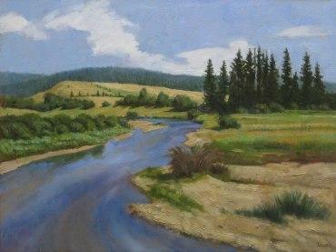 Garden Valley Summer, Oil on canvas, 24 x 30