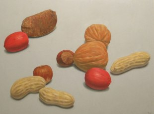 Nuts, Oil on canvas, 30 x 40