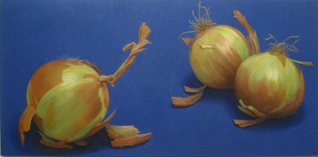 Onions, Oil on canvas, 24 x 48
