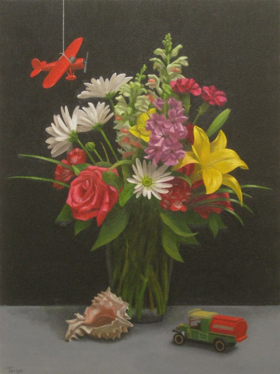 Bouquet and Friends, Oil on canvas, 24 x 18