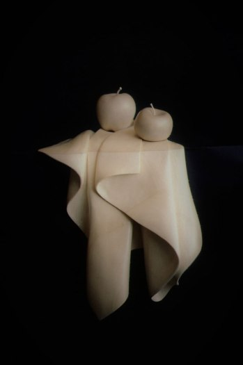 "Granny Smith and Delicious, Basswood, 15"" high"