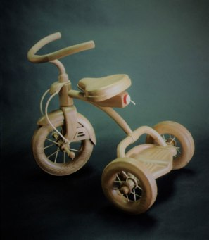 "Rocket-powered Tricycle, Alder, 22"" high"