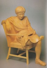 "Reading , Basswood, 20 "" high"