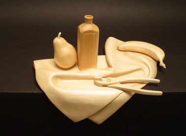 Still Life with Pliers, Basswood, 18 x 14 x 7.5