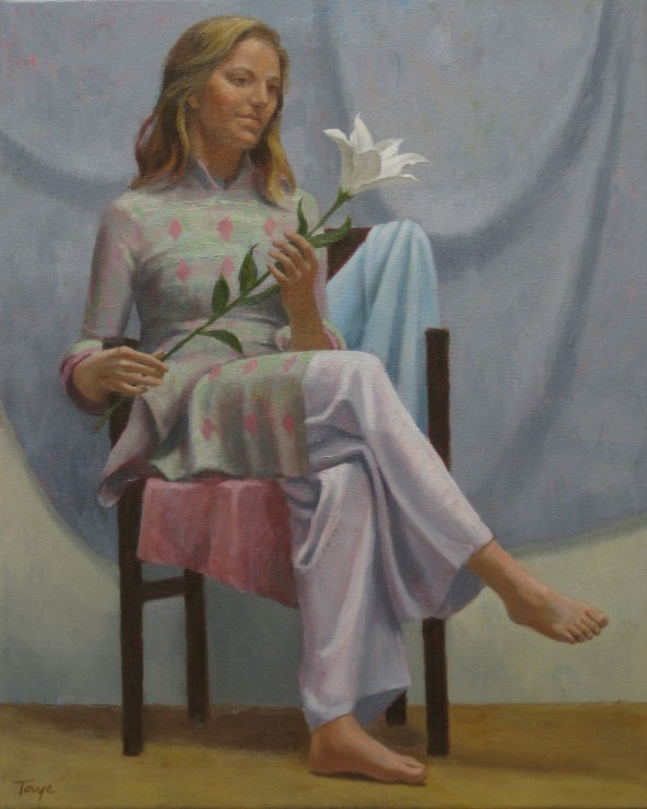 The White Lily, Oil, 18 x 24